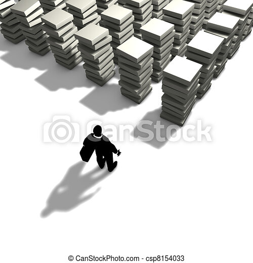 A man will organize its work - csp8154033
