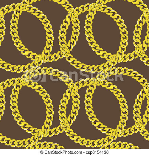 Golden chain seamless vector - csp8154138