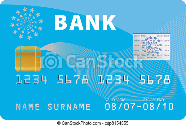 Clipart Vector of Bank credit card csp8154355 - Search Clip Art ...