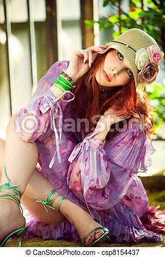 verão, moda - csp8154437