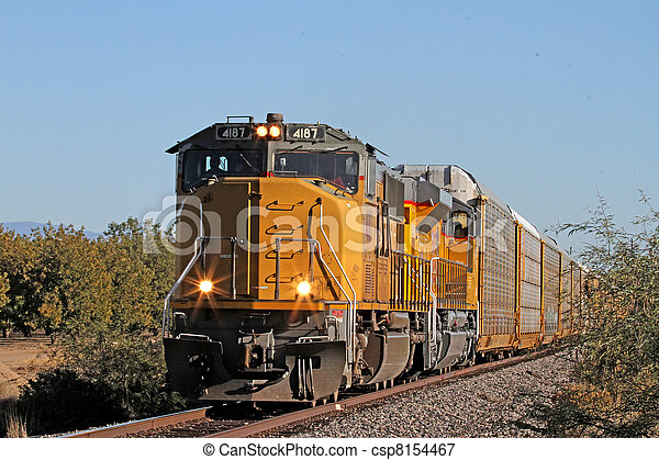 Freight Train moving south - csp8154467