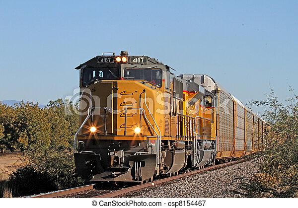 train, en mouvement, fret, sud - csp8154467