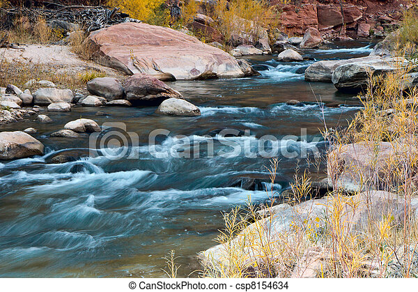 Virgin River in autumn - csp8154634