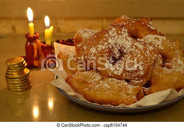 Moroccan Hanukkah Doughnuts - csp8154744