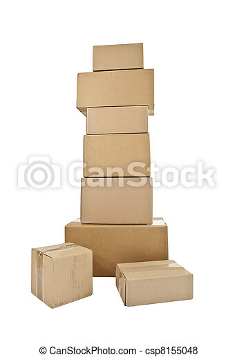 Tall Stack of Boxes - csp8155048