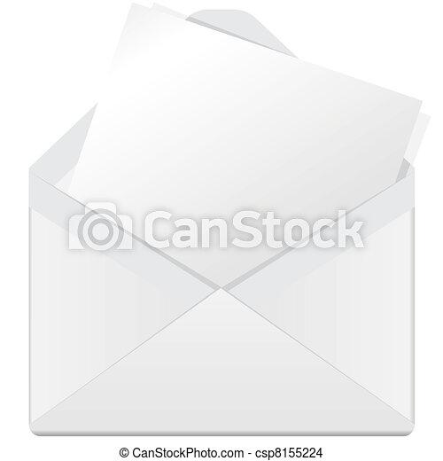 white envelope - csp8155224