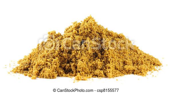 Pile of ground coriander - csp8155577