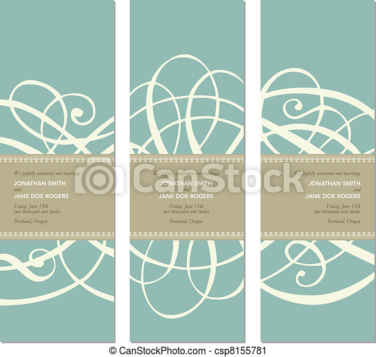 Vector Pastel Tall Ornament Frame Set - csp8155781