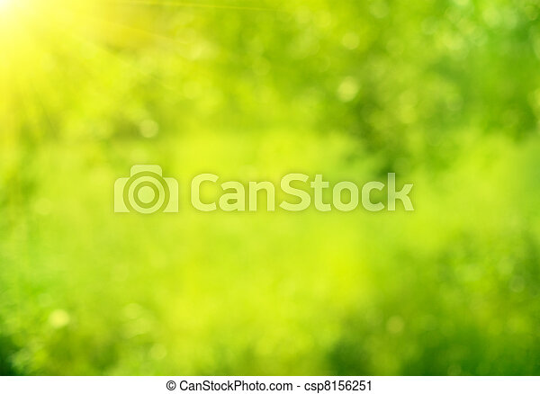 sommer, Natur, Abstrakt,  bokeh, grün, hintergrund - csp8156251