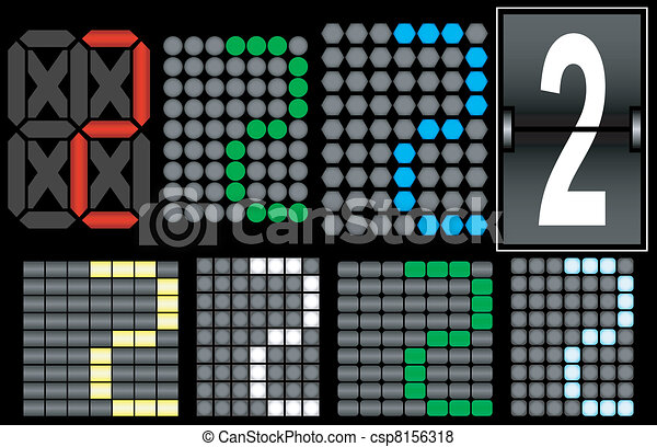 Font Set 4 Digital Display Number 2 - csp8156318