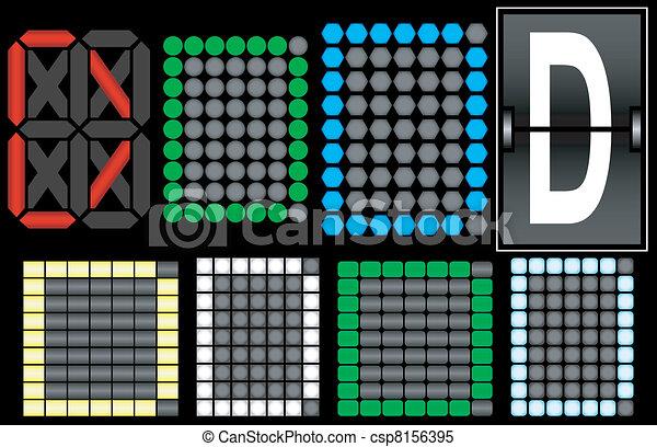 Font Set 4 Digital Display Letter D - csp8156395