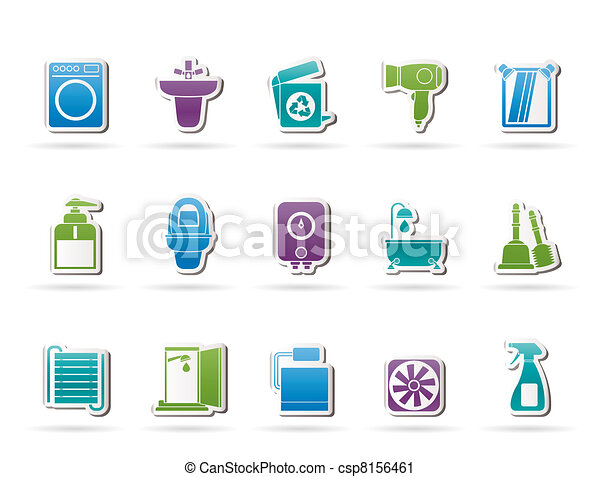 Bathroom and toilet objects - csp8156461