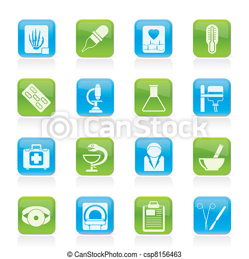 Healthcare and Medicine icons - csp8156463