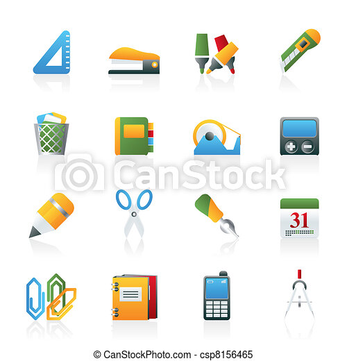 Business and office objects icons - csp8156465