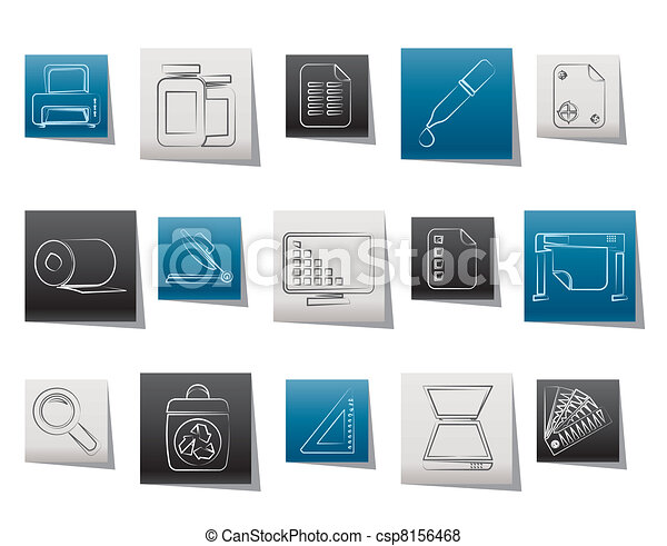 Commercial print icons - csp8156468