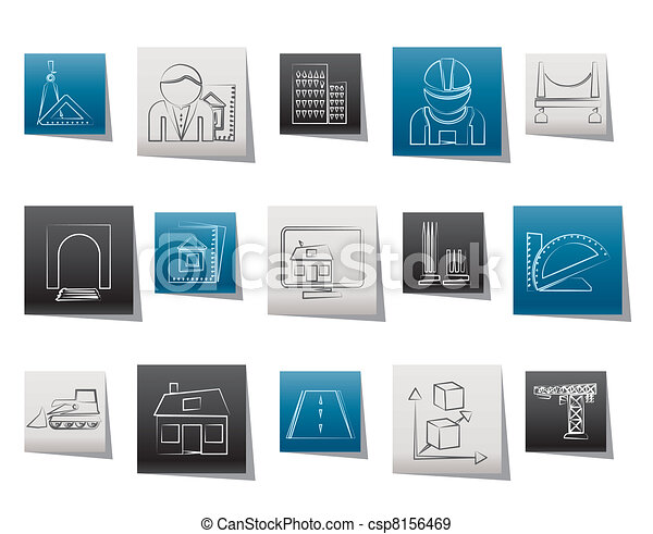 architecture and construction icons - csp8156469