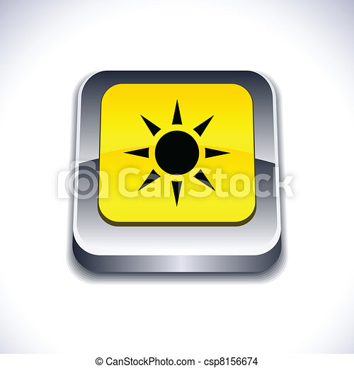 Sun 3d button. - csp8156674
