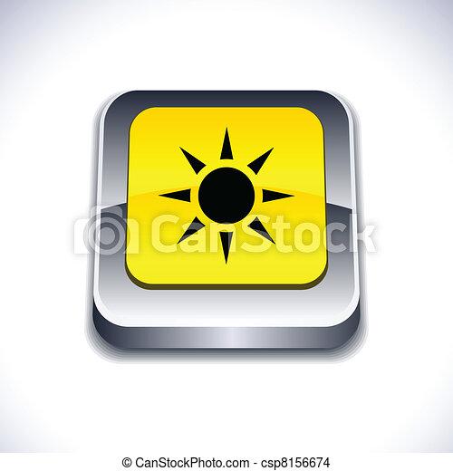 Sun 3d button. - csp8156674