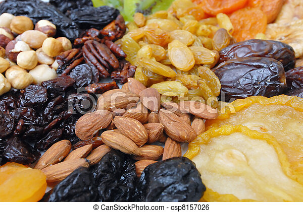 Dried Nuts and Fruits Collection - csp8157026