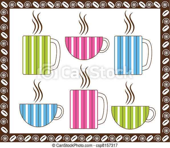 Pinstripe Coffee Cups - csp8157317