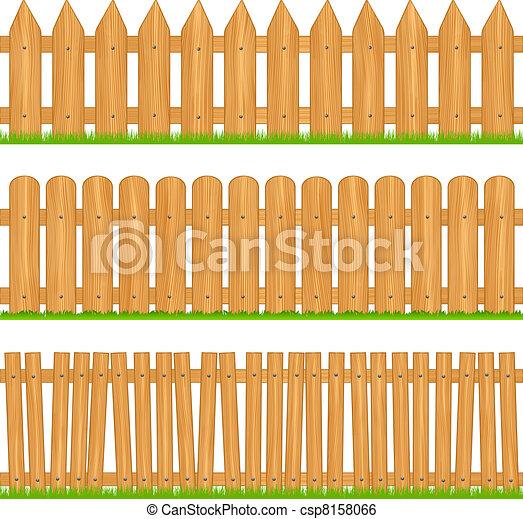 Clip art vecteur de bois barri res vecteur illustration for Cerco illustratore