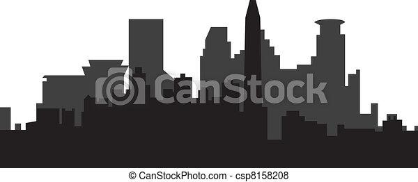 Minneapolis skyline - csp8158208