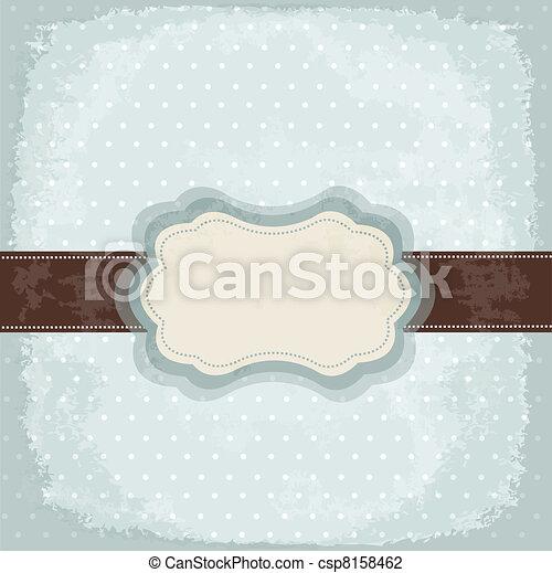 Vintage polka dot design - csp8158462
