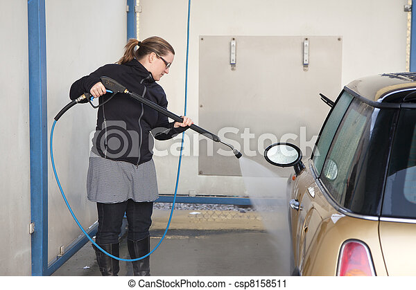 Washing the car - csp8158511
