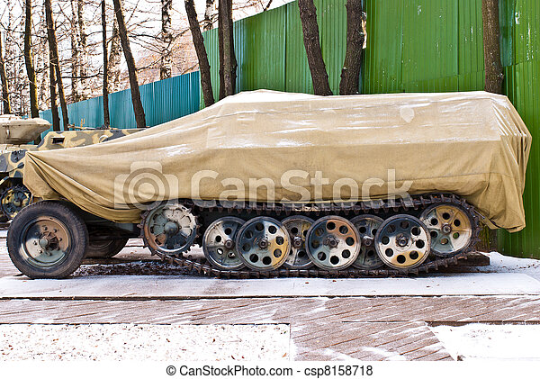 Old Russia military armored personnel carrier - csp8158718