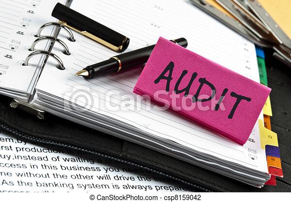 Audit  on agenda and pen - csp8159042