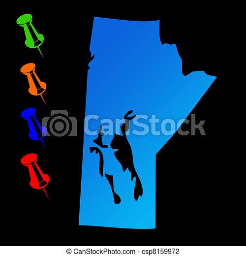 Manitoba travel map - csp8159972