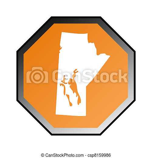 Manitoba road sign - csp8159986