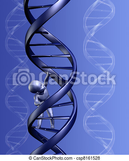 DNA Baby with Background - csp8161528