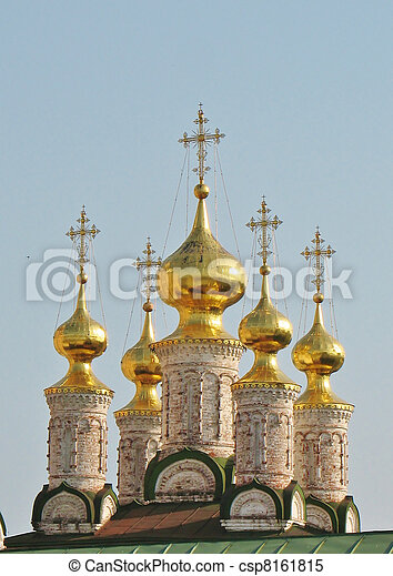 Golden domes of the Ryazan Kremlin  - csp8161815