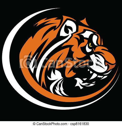 Tiger Mascot Graphic Vector Image - csp8161830