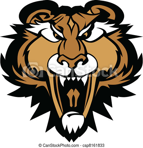 Cougar Panther Mascot Head Vector G - csp8161833