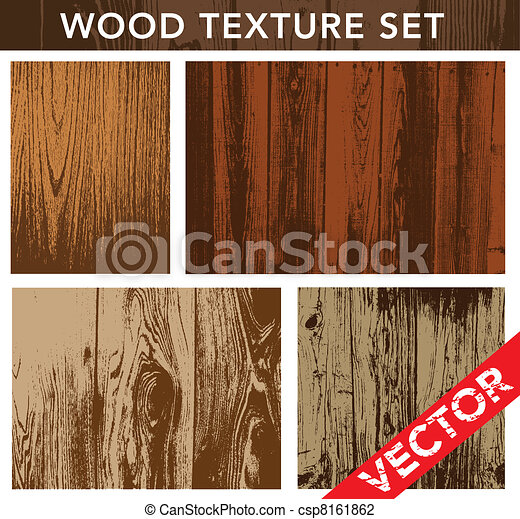Vector Wood Texture Set - csp8161862