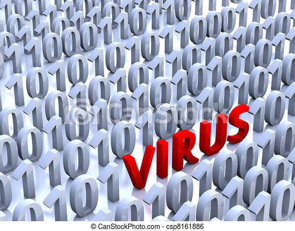 Virus Informatique Logo Illustration Rouges Virus