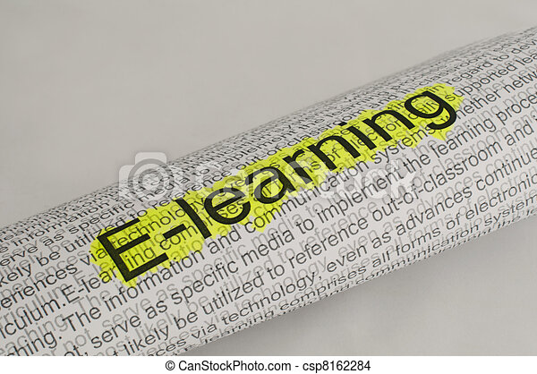 Typed text E-learning on paper - csp8162284
