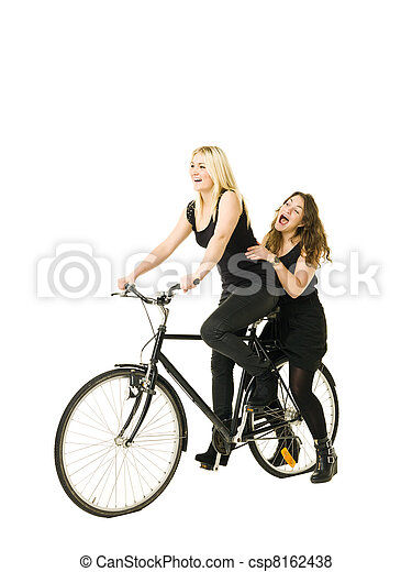 Women on a bicycle - csp8162438