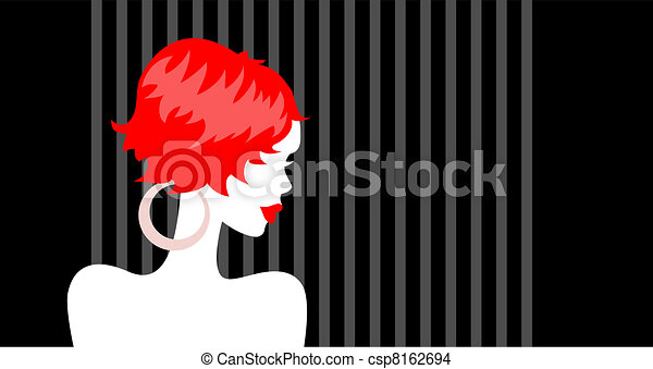 Beautiful Redhead Girl - csp8162694