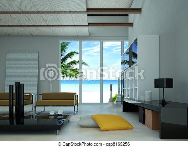 Modern livingroom. - csp8163256