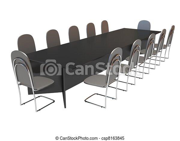 Stühle clipart  Stock Illustrationen von stühle, tisch - Long, tisch, und, zehn ...