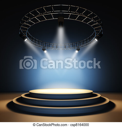 Empty stage. - csp8164000