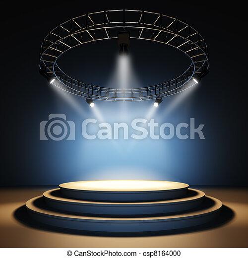 Empty stage. - csp8164000