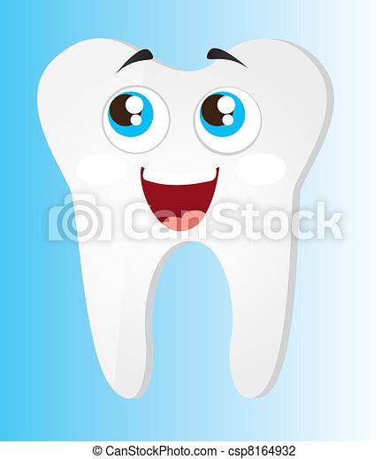tooth cartoon - csp8164932