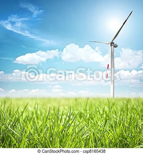 Clean energy concept  - csp8165438