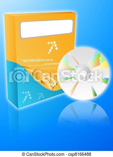 Software orange box with cdrom  - csp8166488