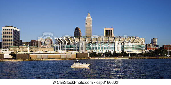 Cleveland from Lake Erie - csp8166602