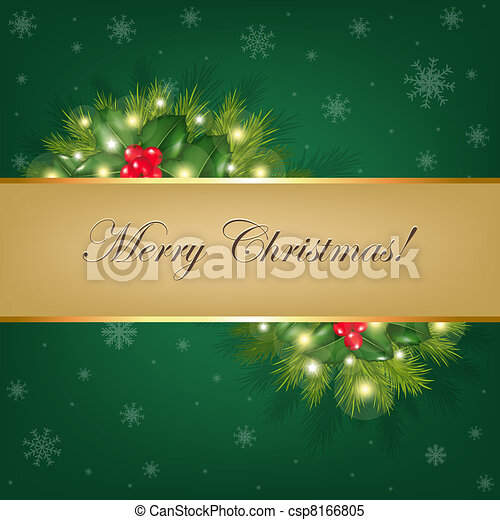 Xmas Background With Fur Trees - csp8166805